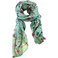 Voberry Fashion Lady Womens Long Cute Dragonfly Print Scarf Wraps Shawl Soft Scarves