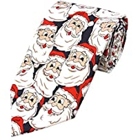 Jacob Alexander Boys' Prep Jolly Santa Regular Length Neck Tie