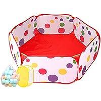 ポータブルPlaypen幼児遊びテント海球プール、屋内屋外の赤ちゃんの安全性の再生センター庭、レッドボールピット (サイズ さいず : 300 balls)