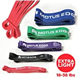 Motus Edge EXTRA LIGHT Resistance Band – CrossFit, Assisted Pull-Up Band, Mobility, Rehab, Stretching - RED (18-36 lbs)