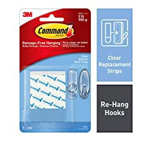 Command Refill Strips, Medium, Clear, 9-Strips (17021CLR-ES) by Command