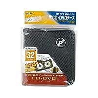ELPA 車内でスッキリ収納 CD&DVDケース 32枚対応 ブラック CDKP-32BK