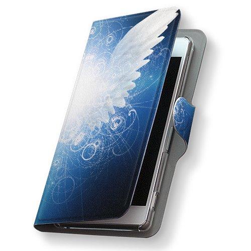 GALAXY S4 SC-04E ケース 手帳型 スマコレ 全機種対応 有り レザー 手帳タイプ 革 フリップ ダイアリー 二つ折り 横開き 革 SC04E ケース スマホケース スマホカバー クール 007870 Samsung サムスン docomo ドコモ 羽根 はね 青 ブルー sc04e-007870-nb
