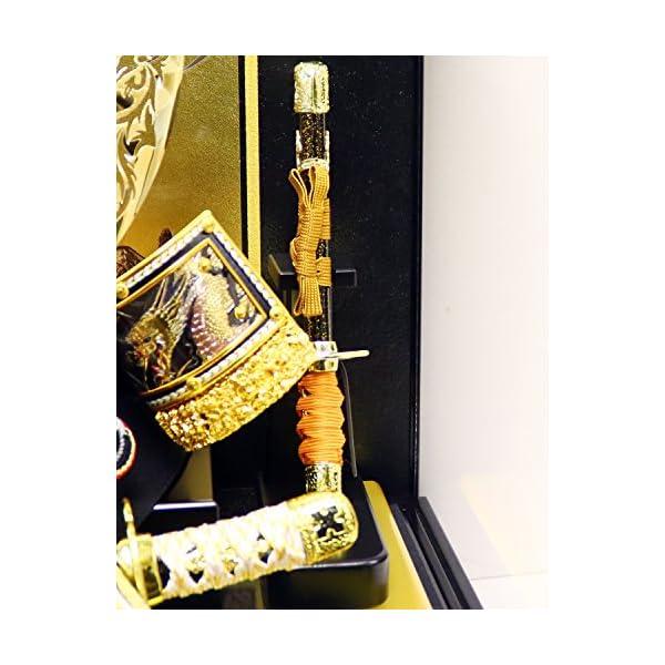 五月人形 兜ケース飾り ゴールドハヤブサ兜 間...の紹介画像8