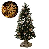 LOWYA (ロウヤ) クリスマスツリー ツリー 藁 ストローオーナメント 雪 結晶 ライト リアルMIX葉 足元ファブリックカバー付き 北欧 ヨーロッパ ナチュラル おしゃれ 150cm