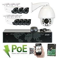 GWセキュリティHD IP PTZ 1080pドームカメラ 7 cameras + 1 PTZ camera 8CH82050IP201