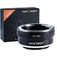 K&F Concept マウントアダプター 一眼レフカメラ用「PK-NEX」ペンタックスKマウントレンズ x SONY (α NEX) Eマウントボディ 【国内正規品】