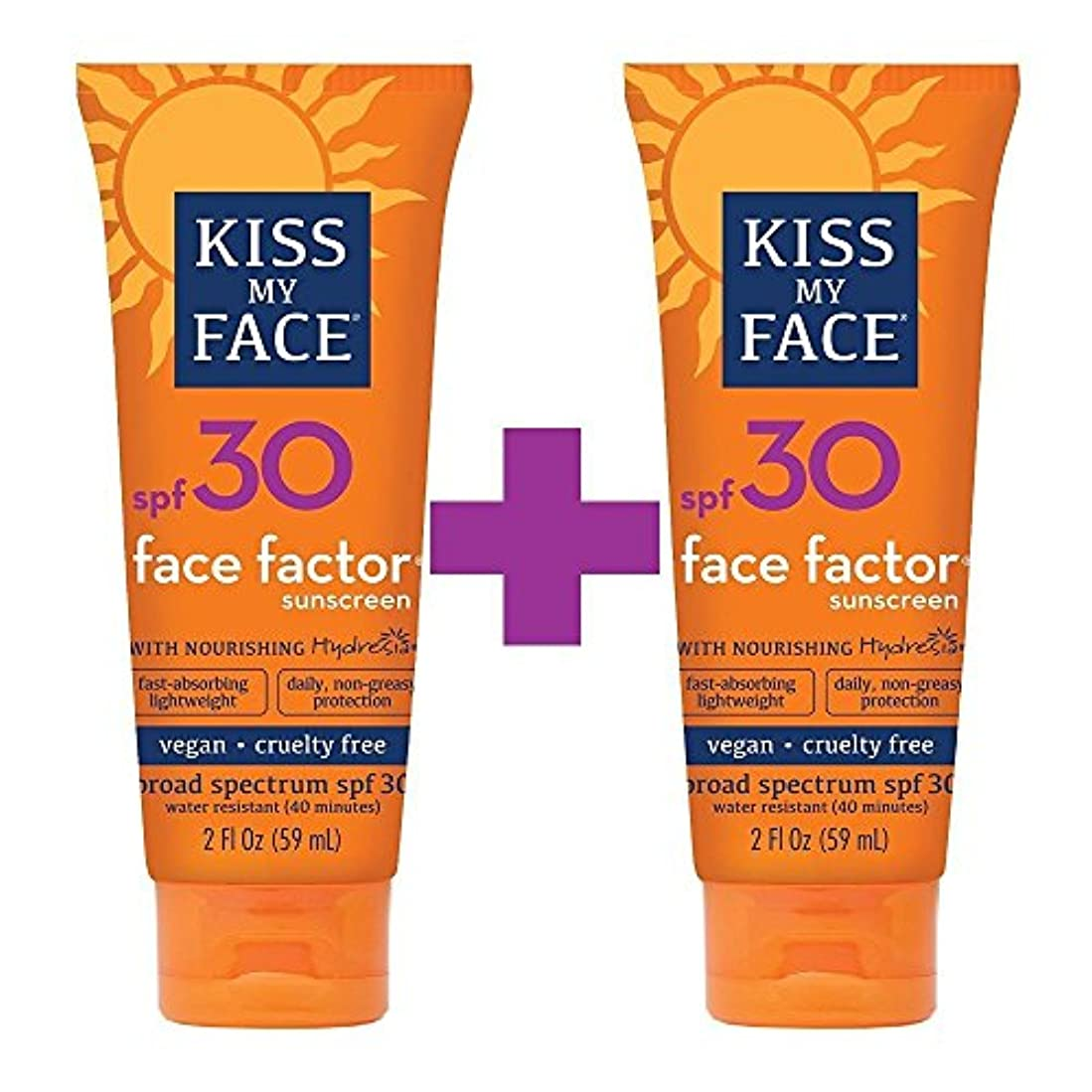 する必要がある分保守的海外直送品Kiss My Face Sun Care Face Factor SPF 30, EA 1/2 OZ (Pack of 2)