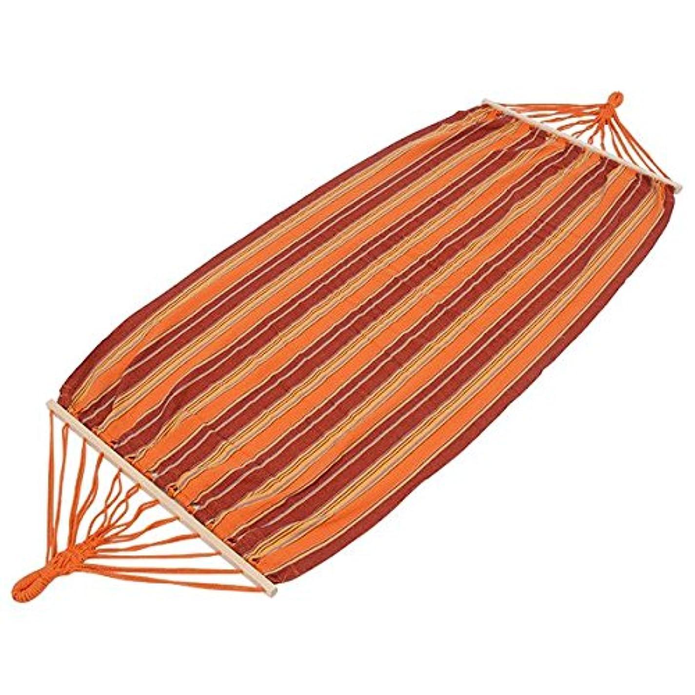 キャプション誕生日つかむハンモック コットン製 [室内/屋外] LHM-4073 オレンジ