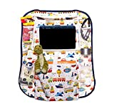 Kids Car Backseat Storage Organizer - Large Tablet Holder, up to 11.5 inches - Perfect for Toys, Books, Snacks, Drinks - Essential Road Trip Accessory - Also use as Kick Mat, Seat Back Protector