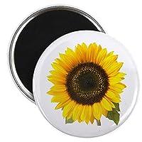 "CafePress–Sunflower–2.25""ラウンドマグネット冷蔵庫マグネット、ボタン、マグネットスタイル"