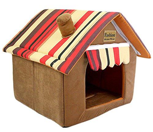 Plus Nao(プラスナオ) ハウス型ベッド ドーム型ベッド 家型ベッド 室内用ハウス カドラー XSサイズ 屋根 折りたたみ可能 コンパクト収納 カ XS ブラウン