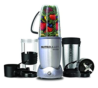Nutribullet N12-1207 1200w 12 Piece Nutrient Extractor Set, Silver