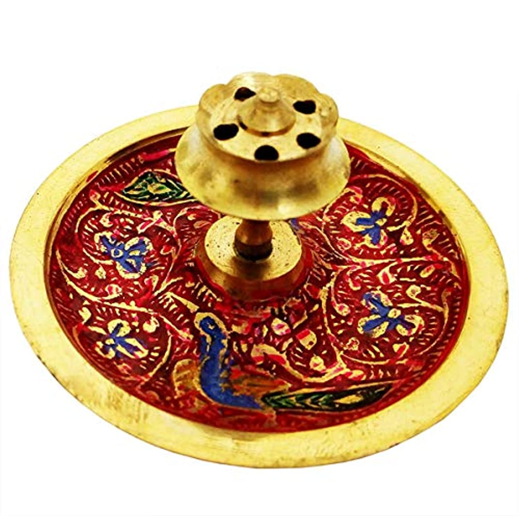 安心国民チャンバーMehrunnisa Brass Incense stick Agarbatti Holder Mughal Design (MEH1230)