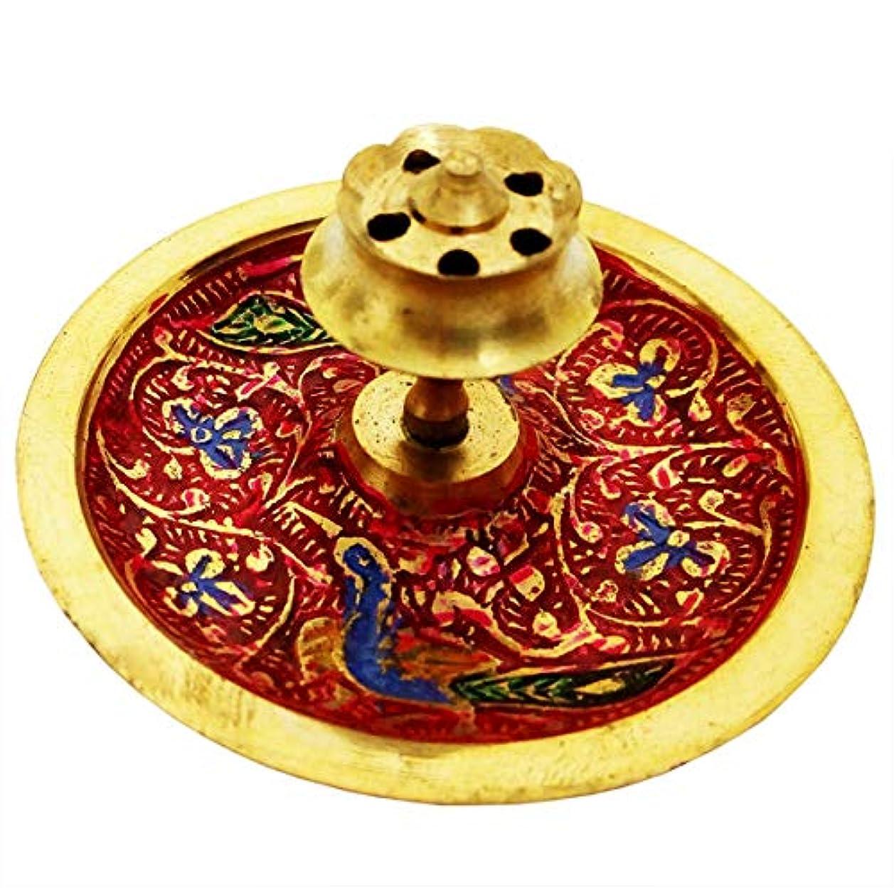 争いストリームびっくりするMehrunnisa Brass Incense stick Agarbatti Holder Mughal Design (MEH1230)