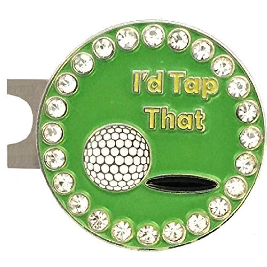 底味付け前兆Giggle Golfブリング「I'd Tap That」標準帽子クリップ付きゴルフボールマーカー