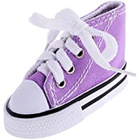 Jili Online 1 Pair Lace Up Canvas Sneaker Sport Shoes for 1/4 BJD SD Dollfie Doll Purple 7.5cm