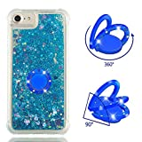 MOBONCAS Cover for iPhone 7 Plus/8 Plus,Bling Glitter Sparkle Designer Slim Fit Soft Gel TPU Silicone Skin Cover Anti-Scratch Protective Shining Fashion Style Case-Blue.