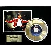 マイケル・ジャクソン 24Kプレートレコード額装 BEAT IT(今夜はビートイット)