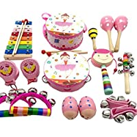 TambourineドラムベルPercussion Instrument Musical Toy for KTVパーティー子供ゲーム、# e20