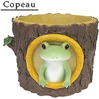 Copeau(コポー) カエルと切り株の鉢カバー 71766