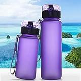 ホットプロテインシェーカープラスチック製のスポーツ飲料水ボトルポータブル自転車キッズ用ドリンクフィットネスリークプルーフシールボトルDrinkbeker:400ml、ブルー