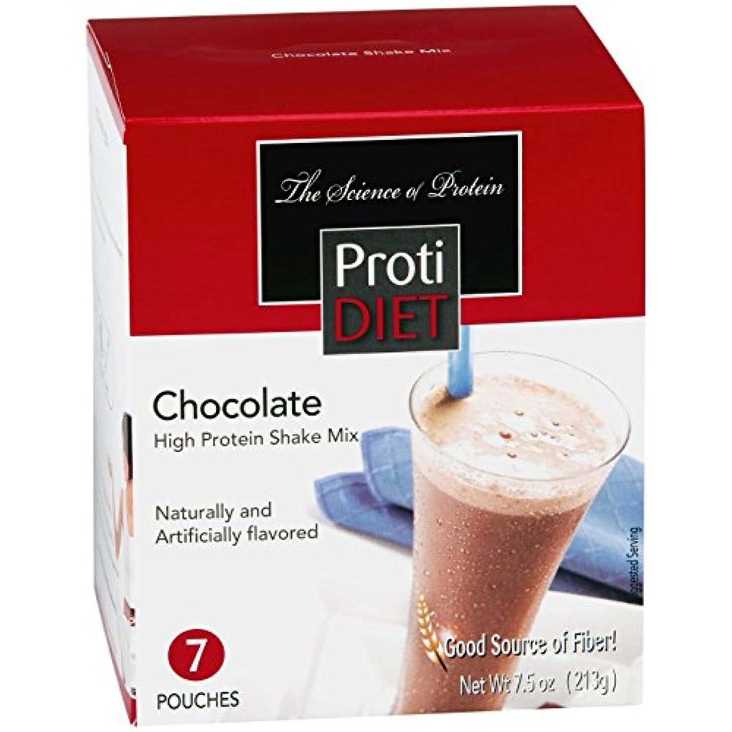 入学する補足ペインティングProti Diet Chocolate Shake (7 pouches per box) Net Wt 7.5oz (213g) by Protidiet