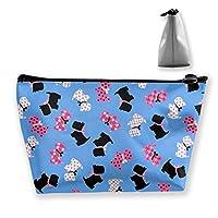 かわいい犬 化粧ポーチ メイクポーチ 機能的 大容量 化粧品収納 小物入れ 普段使い 出張 旅行 メイク ブラシ バッグ 化粧バッグ