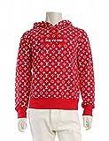 (ルイ・ヴィトン) LOUIS VUITTON ×Supreme ボックスロゴ プルオーバー パーカー トップス モノグラム 赤 白 Box Logo Hooded Sweatshirt 中古