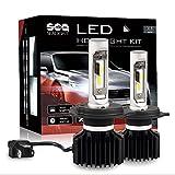 LEDヘッドライトH4/9003/HB2 Hi/Lo SEALIGHT 車検対応 10000LM (5000LM x2) 6000K ファンレス一体型 超高輝度CSPチップ搭載 12V/24V兼用