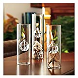 【ノーブランド 品】DIY 飾り物 贈り物 ガラス オイルランプ 読書室光 装飾灯 油バーナー 15cm 透明