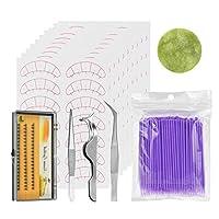 メークアップ用 まつ毛 エクステンション ツールセット 効果的 長持ち 保護 素敵 全4色 - 紫の