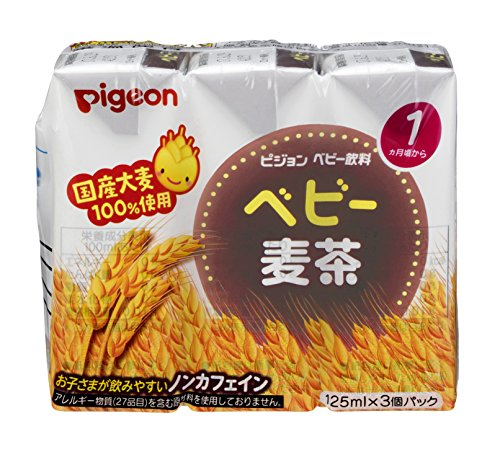 ピジョン ベビー麦茶 国産茶葉使用 125ml×3個パック×4個