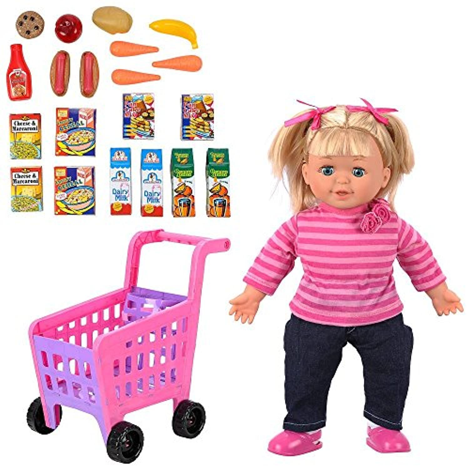 You & Me 14 inch Doll and Shopping Cart Set [並行輸入品]