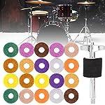 フェルトパッド ドラム用 ワッシャーセット 20pcs入り シンプル ウィングボルト付き スクリュー ドラムナット 防錆可能 耐久性 代替品