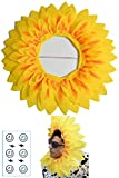 (POMAIKAI) ひまわり 被り物 おもしろ グッズ イベント 余興 宴会 かぶりもの 仮装 小物 (中 58cm)