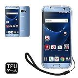 【 shizuka-will- 】Samsung サムスン Galaxy S7 Edge 専用 クリア ケース カバー TPU ケース ソフト ケース ( 耐衝撃 / 透明 / 背面マイクロドット加工 / 衝撃吸収 / ストラップホール / ストラップ付 ) ギャラクシー S7 エッジ ケース docomo SC-02H au SCV33 (Galaxy S7 Edge, クリア)