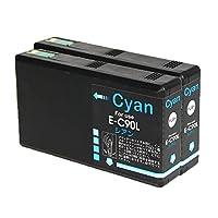 ICC90L シアン 顔料 2個セット 増量 エプソン epson 互換インクカートリッジ 1年保証 チップ付き 対応機種:PX-B700、B750F