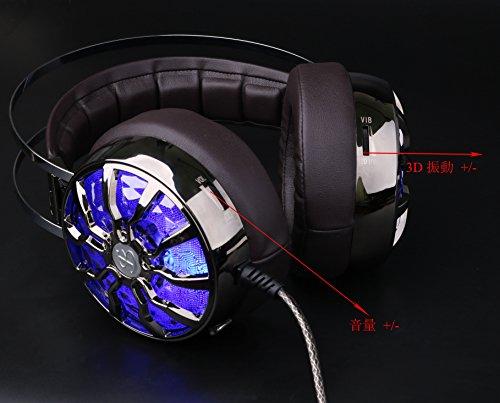 KINDEN PS4 Xbox One 密閉型ステレオヘッドホン 室内用(テレビ・ゲーム向け) マイク付き PC対応 騒音隔離&ボリュームコントロール 3D振動する 仮想的に7.1声道サラウンド効果ゲームヘッドセット 音楽DJイヤホン