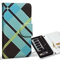 スマコレ ploom TECH プルームテック 専用 レザーケース 手帳型 タバコ ケース カバー 合皮 ケース カバー 収納 プルームケース デザイン 革 チェック・ボーダー チェック 青 黒 004036