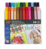 Sakura XBR-24SA 24-Piece Koi Assorted Coloring Brush Pen Set [並行輸入品]