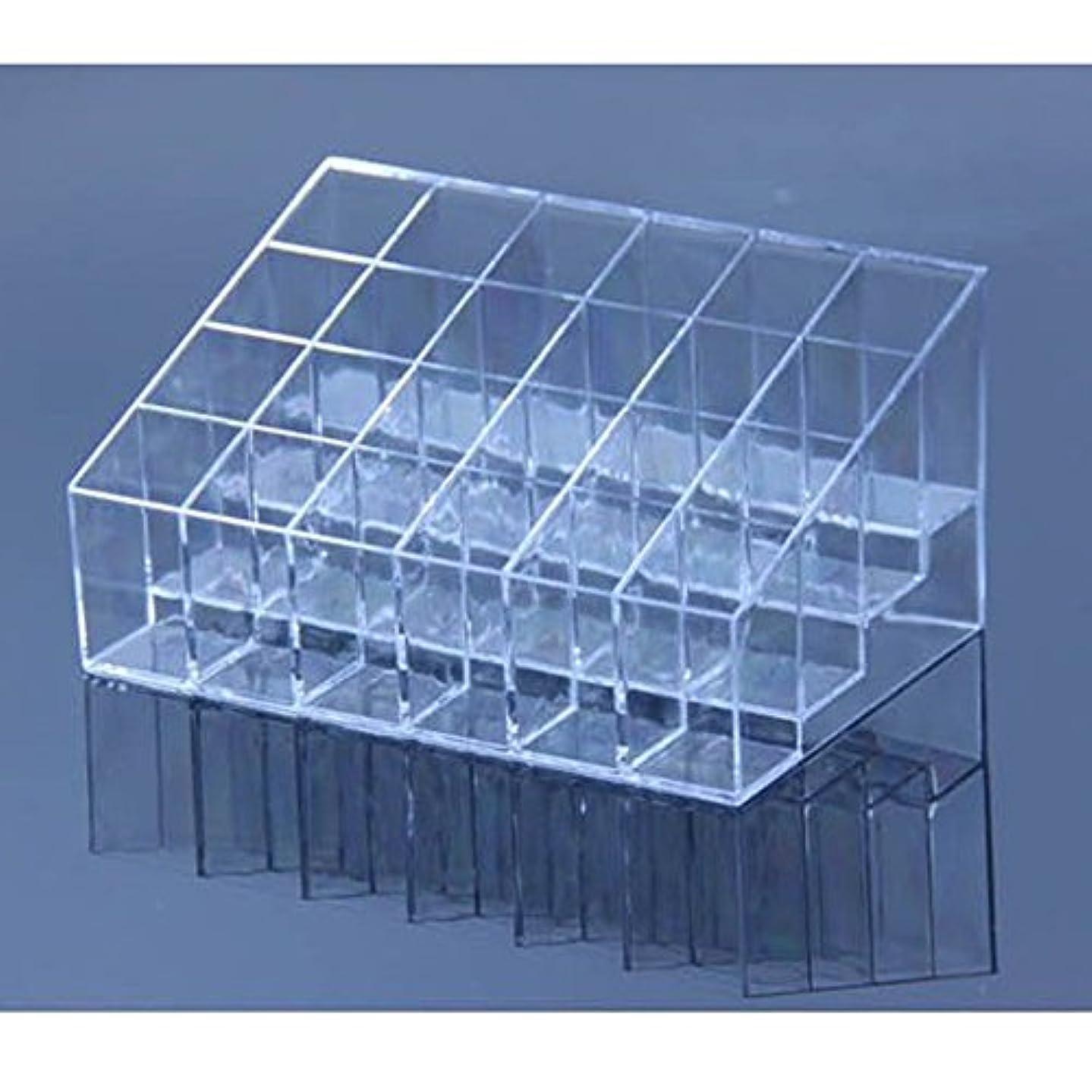 うねるわかる受け継ぐAYWS 口紅ホルダー 24区透明プラスチック製 台形メイクアップ 化粧品ディスプレイスタンド リップスティック ホルダー