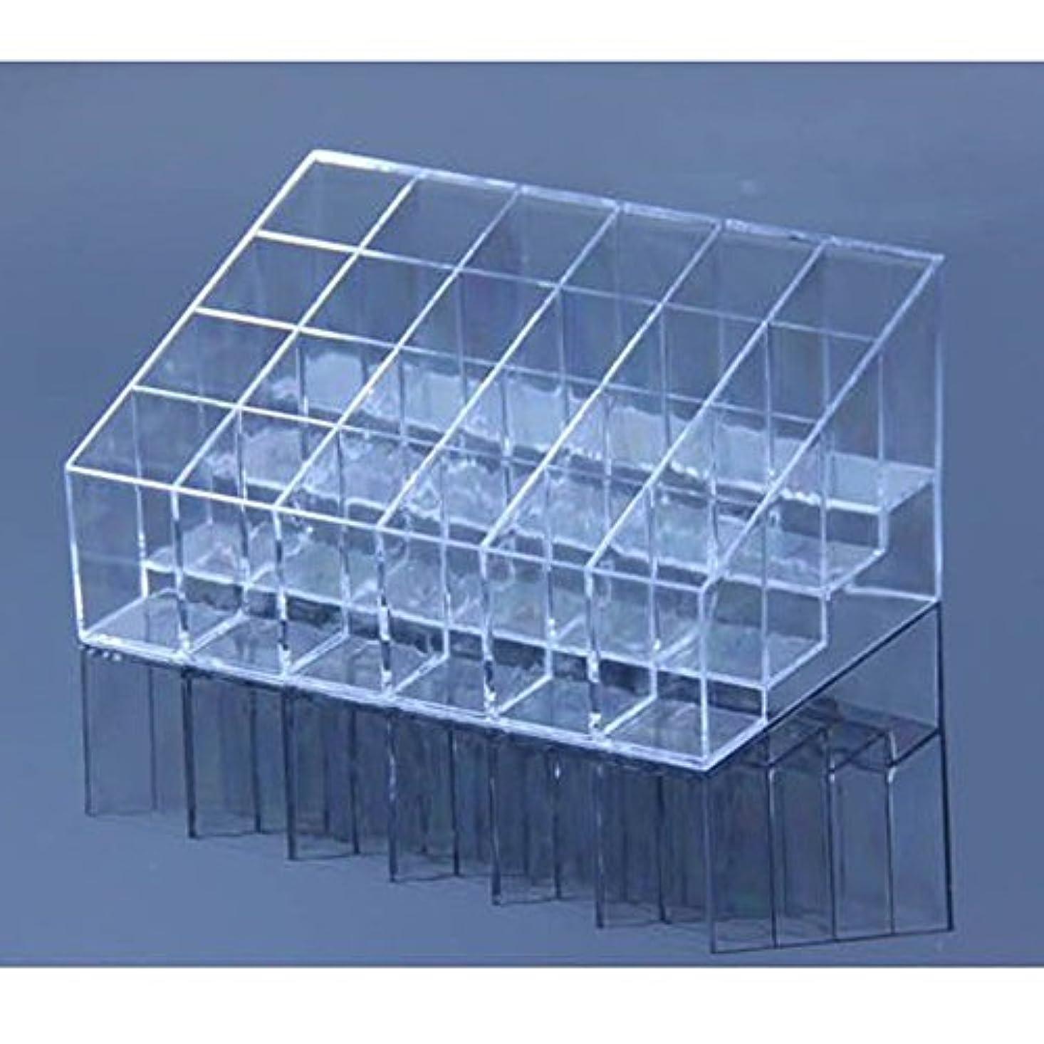 任命ほのかみなすAYWS 口紅ホルダー 24区透明プラスチック製 台形メイクアップ 化粧品ディスプレイスタンド リップスティック ホルダー