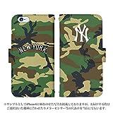 iPhone6 手帳型 ケース [デザイン:19.NY・迷彩(緑)] ニューヨークヤンキース iphone6 スマホ 手帳 カバー