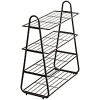 靴のラック鉄の芸術多層単純な家庭用玄関多機能棚 (色 : 白)