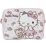 HELLO KITTY x DEARISIMO ハロー キティ × ディアリッシモ かわいい スケルトン 2WAY クラッチ バッグ レディース 90 (9006 きゅんきゅんKT)