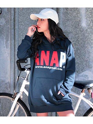 ANAP(アナップ)【ANAP】ANAPロゴ裏起毛フーディーワンピース