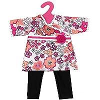 SONONIA 2セット 18インチ 日本風 花のドレスとレギンス アメリカンガール 人形用服 かわいい 贈物