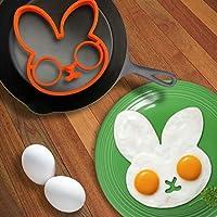 ウサギ型目玉焼きリングシリコン金型アート朝食(米国から出荷)