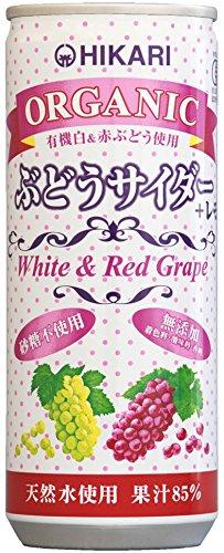 ヒカリ オーガニックぶどうサイダー+レモン 250ml ×30本